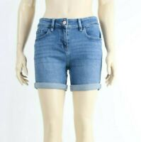 Next Womens Blue Denim Summer Mini Adjustable Twisted Slim Shorts UK 6 to 22 NEW