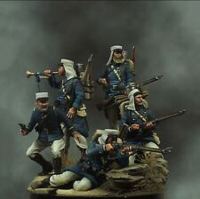 1:32 French Soldiers (5 Figures) Resin Model Kit Unassembled Unpainted