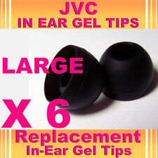 6 Jvc en auriculares auriculares auriculares auriculares de gel Tips Grandes