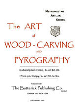 Butterick Wood Carving & Pyrography c.1893 Victorian Era Wood Burning & More