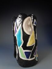 Fine American Art Pottery Relief Decoration Vase by Maxine Miller ca. 20th c.
