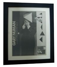GARY NUMAN+Pleasure+Cars+POSTER+AD+RARE ORIGINAL 1979+FRAMED+EXPRESS GLOBAL SHIP