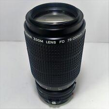 Canon FD 1:4.5 75-200mm MF SLR DSLR f4.5 Macro Zoom Lens nFD Mount A-1 AE-1 T50