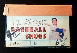 1952 Joe DiMaggio Rawlings Unused Spikes w- Original Box & Tag VTG Shoes Cleats