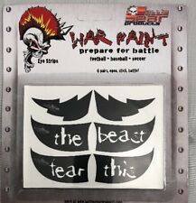 Authentic War Paint Eyeblack under eye stickers 6 Pair Battle Gear Products
