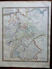 German Confederation Hanover Westphalia Bavaria Hesse Cleves 1846 scarce map