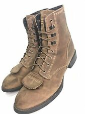 Womens Ariat Heritage Lace-up Roper Kiltie Western Boots Leather 33525 size 8 B