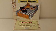 Dinky Toys Atlas  Livret + certificat SEULS du Coffret Souvenir d'Espagne
