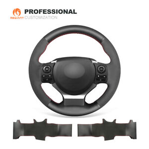 Black Suede Leather Car Steering Wheel Cover for Lexus IS200t IS250 IS300 IS350