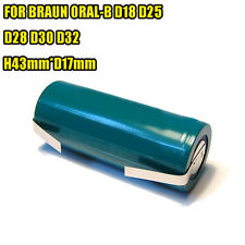 Battery FOR Braun ORAL-B shavers D18 D25 D28 D30 D32 1.2V 2100mAh Ni/MH AU STOCK