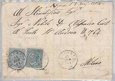 57080 - ITALIA REGNO - STORIA POSTALE :   BUSTA da GRAVEDONA  1864