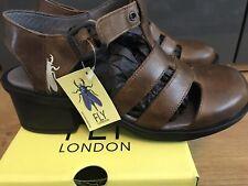 Fly London Cahy195fly Closed Toe Block Heels Brown (Camel) 9 UK