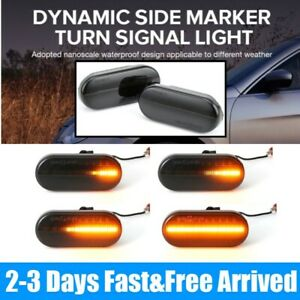 DYNAMIC FLOWING SEQUENTIAL LED BLACK SMOKED SIDE REPEATERS INDICATORS For VW T5