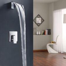 Wall Mounted Bathroom Widen Outlet Basin Bath Tub Mixer Tap Faucet&Control Valve