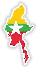 Burma Myanmar Map Flag Sticker Silhouette for Bumper Helmet Car Laptop Door