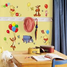 RoomMates Wandsticker Winnie Pooh Tigger Ferkel Esel Luftballons Babyzimmer