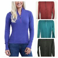 NEW Eddie Bauer Ladies' Half Zip Pullover Sweat Shirt VARIETY SIZE COLOR VARIETY