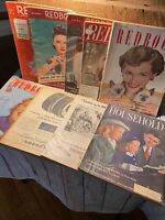 Lot of 9 vintage 1930s and 1940s redbook Household Magazine classic ads photos