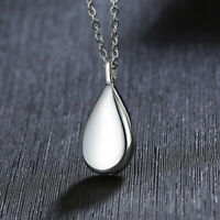 Teardrop Ashes Urn Women Necklace Pendant Cremation Memorial Keepsake Jewelry