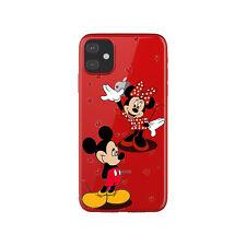 Funda gel transparente dibujo Mickey y Minnie corazones para Iphone 11 pro max
