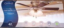 Harbor Breeze Centreville 42-in Antique Brass Led Indoor Flush Mount Ceiling Fan