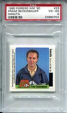 1990 Ferrero WM '90 Hanuta soccer card 23 Franz Beckenbauer PSA 4 Pop 1, 1 highr