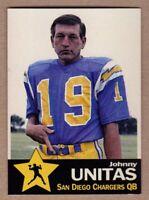 Johnny Unitas '74 San Diego Chargers Monarch Corona Gold Star series #1