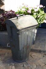 Alte 50er Jahre verzinkte Stahlblech Mülltonne Vintage / Industriedesign / Loft