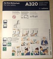 Lufthansa A320 Safety Card