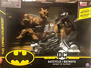 Spin Master DC Comics Batman Batcycle w/ Exclusive Batman & Clayface 1st Edition
