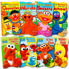 Sesame Street Ultimate Board Books Set For Kids Toddlers -- Pack of 8 Board Book