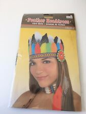 SEXY Indian Feather Head Dress Native American Costume Headpiece HALLOWEEN ~ NEW