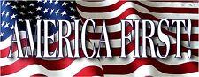 American First! bumper sticker America #1 President Trump 2017