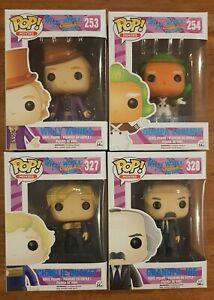 Willy Wonka and the Chocolate Factory Funko Pop Vinyl FULL SET OF 8