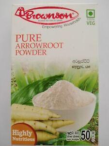 Pure Arrowroot Powder 50g Highly Nutritious GMO-Free 100% Vegan From Sri Lanka