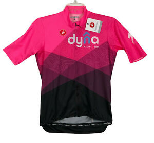 Dyna Racing Cycling Team Castelli Podio Jersey Full Zip Pink Mens XL NWT