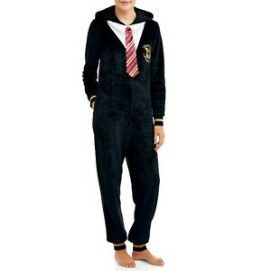 Harry Potter Fleece Union Suit Pajamas - Adult Unisex - Size: Small (4/6)