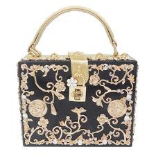 Flower Crystal Acrylic Box Clutch Evening Totes Bag Shoulder & Crossbody Handbag