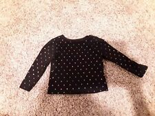 Garanimals Shirt & Tops Girls Baby Toddler Black polka dot Long Sleeve shirt