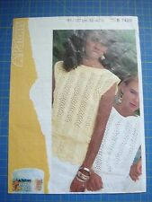 Patons Women's Sleeveless Top & Tunic Knitting Pattern 7400