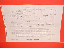 1964 1965 1966 FORD THUNDERBIRD SPORT ROADSTER CONVERTIBLE FRAME DIMENSION CHART