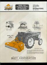 Mott J 60-2 Safety Flail Mowers International 284 Tractors Dealer Sheet Page