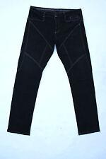 9.2 BY CARLO rivincite Donna Nero Denim Jeans DRITTA Sz54 W38 UK20 FAB