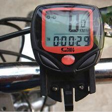 LCD Bicycle Odometer Speedometer Tachometer Gauge Computer Bike Speed Meter