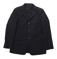 Topman Mens Wool Blend Black Suit Jacket 38 Chest (Regular)