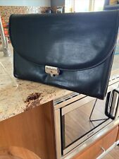 Unisex Authentic BURBERRY Soft Brown LEATHER Wallet CASE Briefcase SATCHEL