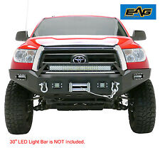 "EAG 07-13 Toyota Tundra Front Bumper Guard W/Bracket for 30"" LED Light Bar Black"