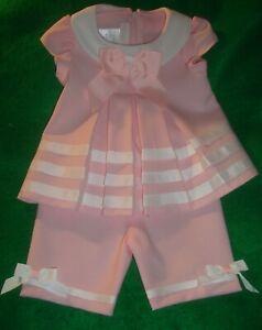 BONNIE/BABY~girl~PINK/w/WHITE/TRIM/SAILOR/TOP/&/PANTS! (3/6/MO) BRAND/NEW! CUTE!