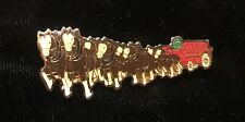 """Budweiser Clydesdales Horse Train Beer Pin Large 2"""" Anheuser Busch"""