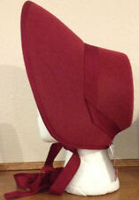 Burgundy Felt Bonnet Hat Adult Costume Accessory NEW Dickens Victorian